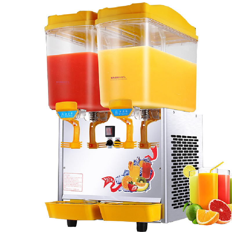 Jamielin Commercial 17L*2 Double Cylinder Cold And Hot Drink Machine Beverage Dispenser Juice Dispenser Spray Stir