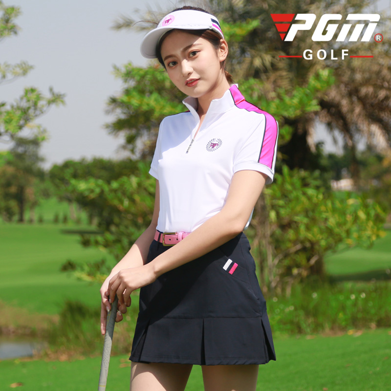 New PGM Womens Sports Casual Wear Clothes Golf Short-Sleeve T-Shirt Skirt Cycling Summer Women Not Easy To Wrinkle Clothing