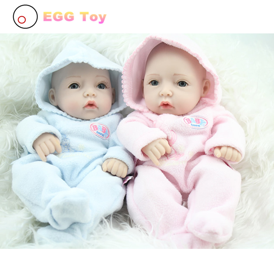 28cm White Full body Silicone Reborn Baby Dolls Toys Lifelike Girls Doll Play Bath toys Gift brinquedods Princess Reborn babies 28cm white full body silicone reborn baby dolls toys lifelike girls doll play bath toys gift brinquedods princess reborn babies