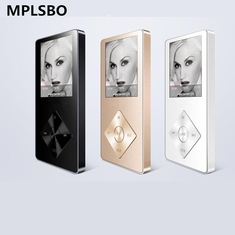 MPLSBO Speaker metal mp4 Player 8GB 16GB HIFI Lossless Sound music alloy MP3 MP4 Music Player FM Radio Voice Recorder E-Book