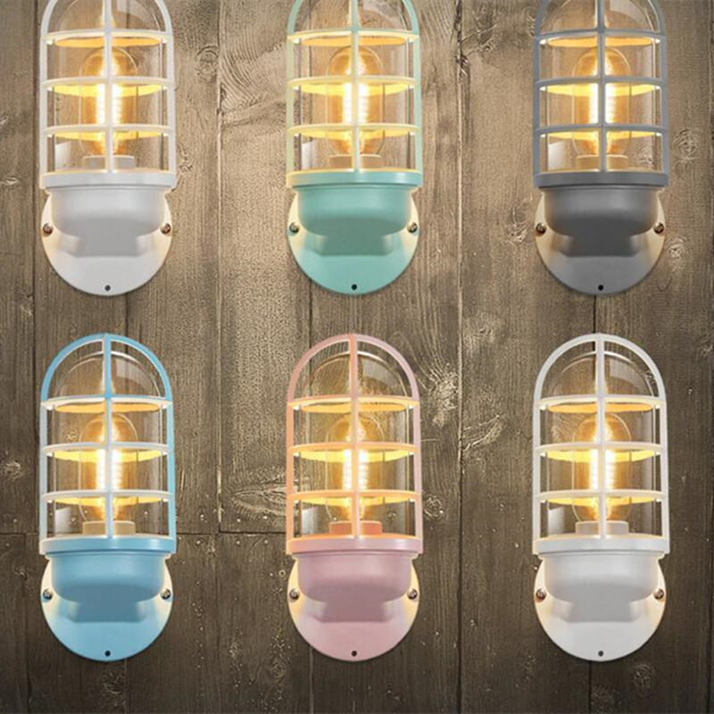 Nordic Candy Multicolor Bedroom Wall Light Macaroons