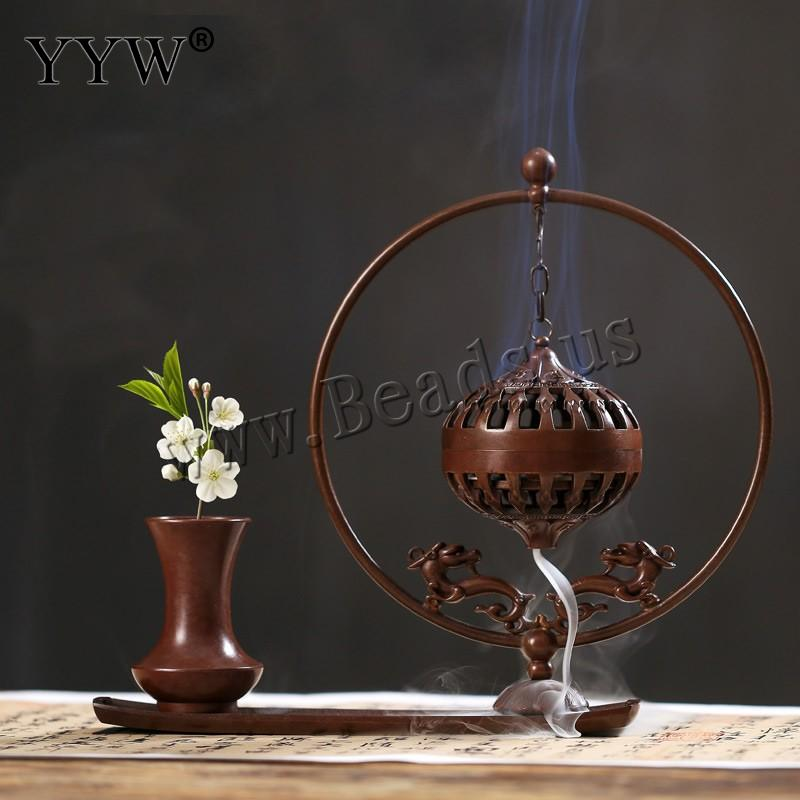 Brûleur à bobine d'encens support de cône d'encens à reflux belle artisanat décor à la maison en laiton couleur cuivre brûleur d'encens à Suspension creuse