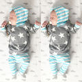 Newborn Baby Boy Girls Warm Hoodies T-shirt Tops+Pant Outfits Set Kids Clothing unisex baby clothing set