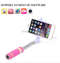 selfie stick Wired Transportable Monopod Extendable Handheld Tripod Holder for iPhone/Xiaomi/Huawei/Asus IOS Android Telephone