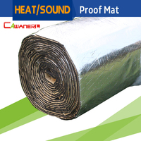 1 Roll 6sqm 600CM X 100CM Car Heat Proof Material Sound Shield Noise Control Insulation Mat
