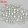 1000PCS/Pack Mix Sizes Crystal Clear Non Hotfix Flatback Rhinestones Nail Rhinestones For Nails 3D Nail Art Decoration Gems