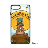 Happy Groundhog Day USA Canada North America Festival Celebrate Marmot Phone Case For IPhone X 7