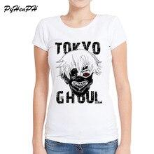 Fashion Tokyo Ghoul Print T shirts Summer Slim Tees Tops