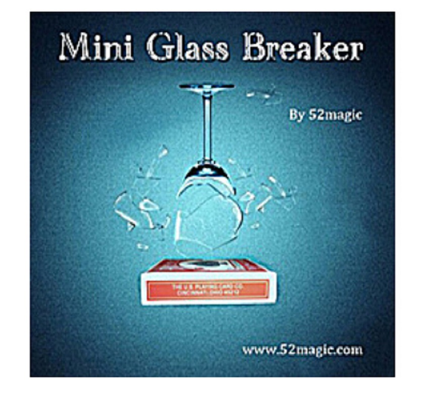 Mini Glass Breaker in Remote control - Magic trick, bicycle card box, stage magic,mentalism horizontal card rise magic tricks stage card accessory gimmick props mentalism classic toys