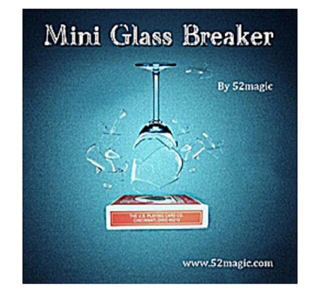 Mini Glass Breaker in Remote control - Magic trick, bicycle card box, stage magic,mentalism