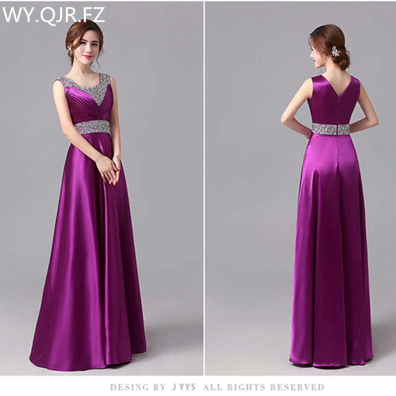 JYHS6420Z#New Spring Summer 2019 Long Bridesmaid Dresses Purple Toast Wedding Party Prom Toast Dress Grils Cheap Wholesale Women