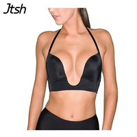 Formal Dress Sexy Invisible Seamless Bra Women S Underwear Bra Convertible Straps Solid Deep Unlined Plunge