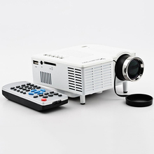 UC28 1080P Mini Size Low Noise Projector Support AV/ USB/ SD Card/ VGA/ HDMI