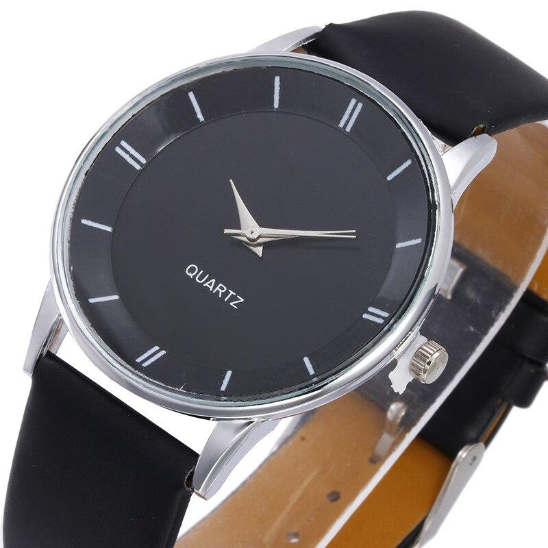 Defoe Women Watch Casual Quartz Leather Men Hot Sale Analog Wristwatch Relogio Feminino lover's watch