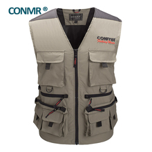 CONMR QF 1909B Famous brand Fishing vest jacket clothing for adult men outdoor photography hunting hiking Upstream 50