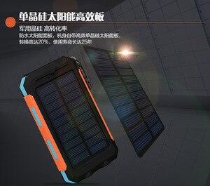 Image 2 - LiitoKala Lii D007 Draagbare Zonne energie Bank 20000 mah Voor Xiaomi 2 Iphone Externe Batterij Powerbank Waterdichte Dual USB