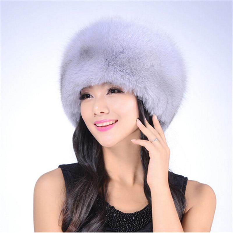 Winter hats 2016 Women warm real hat Mink fur Women