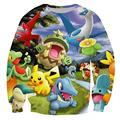 Alisister cute cartoon unisex sweatshirt 3d print pokemon Pikachu graphic hoodies mujer/homme high quality brand clothes moleton