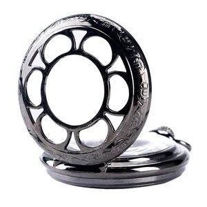 Image 4 - H ollowดอกไม้กรณีวิศวกรรมลมขึ้นนาฬิกาพกสีดำมือคดเคี้ยวStewampunk Fobจี้พยาบาลนาฬิกาที่มีสไตล์