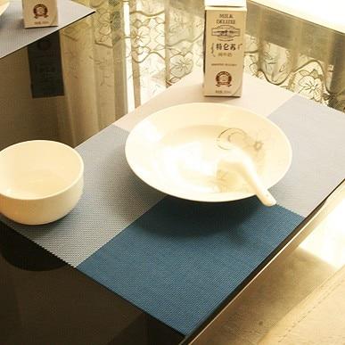 4 ks / lot Placemat pvc jídelní stůl podložky podložky podložky podložky podložky podložky pod vodu nepromokavé ubrusy podložky protiskluzové podložky 5 barvy
