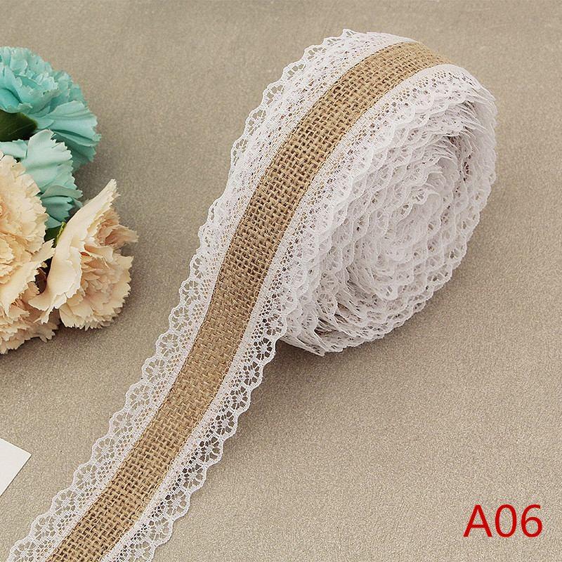 HTB1bpqdKCzqK1RjSZFLq6An2XXa4 2Meter/Lot 25mm Natural Jute Burlap Hessian Lace Ribbon with White Lace Trim Edge Rustic Vintage Wedding Centerpieces Decor