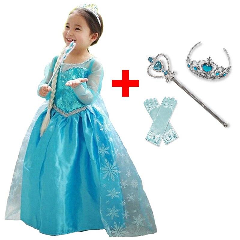 Baby Girl Anna Elsa Princess Dress for Girls Childen Clothing Fancy Cosplay Elza Costume