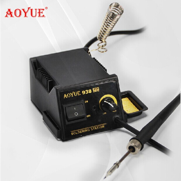 AOYUE 938 portable mini Solder iron thermostat soldering station 220V 15W цена