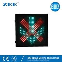 600 мм x 600 мм светодио дный светофоре Красный Крест и Зеленая Стрела 600 мм сигналы светофора автостоянка платных станции туннель световой сиг