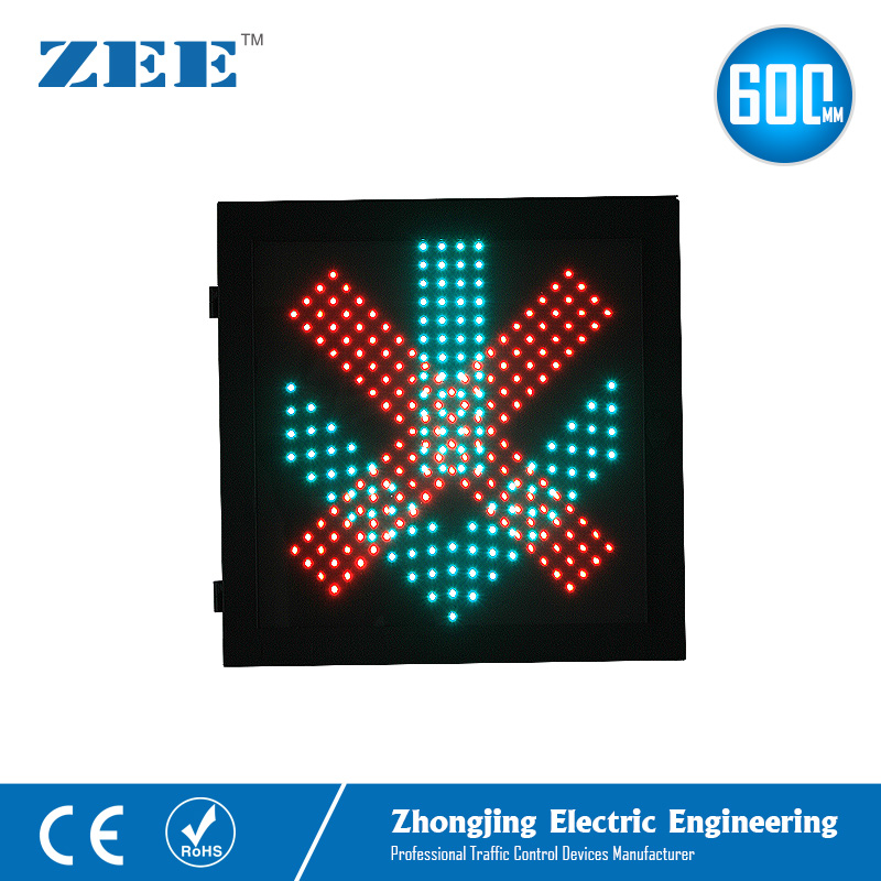 600mmx600mm LED Traffic Light Red Cross And Green Arrow