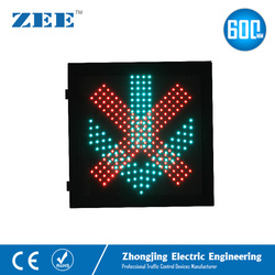 600mmx600mm LED Traffic Light Red Cross and Green Arrow 600mm Traffic Signal Light Parking Lot Toll Station Tunnel Signal Light