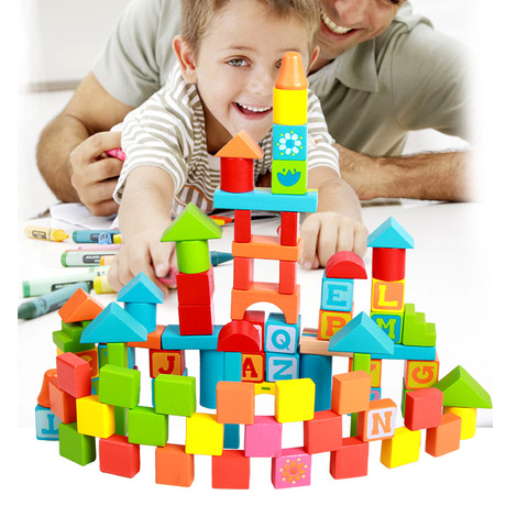 Permalink to Model Building Kits Models & Building Toy Wooden Building Blocks 82 pieces Letters Printed Blocks montessori toys kids toys