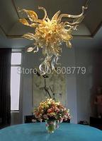 O Envio gratuito de Belas Artes Excelente Mão Soprado Arte em Vidro Lustre Exclusivo