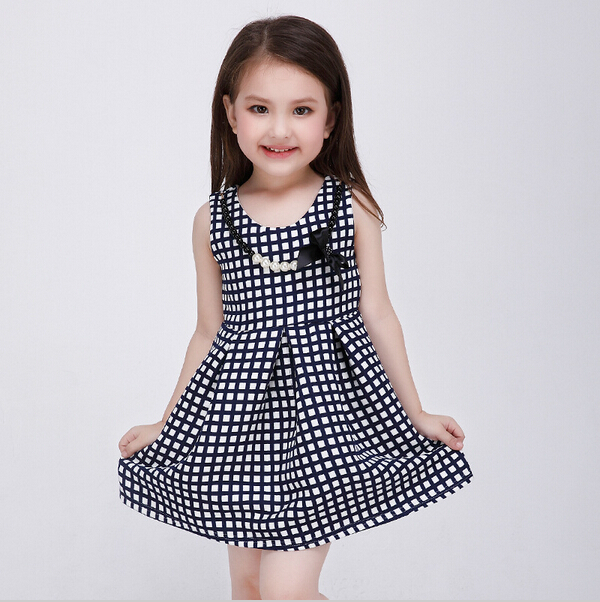 39e48ee35 2016 New Style European Baby Girl Princess Dress Fashion Plaid Dresses  Girls Summer Sleeveless Vestido Infantil Kids Clothes-in Dresses from  Mother & Kids ...