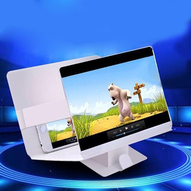 3D Phone Screen Magnifier Stereoscopic Amplifying Desktop Foldable Leather Bracket Mobile Phone Holder Tablet Holder dropshippin