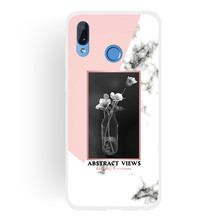 Frosted Cover For Huawei Honor Play Case Soft TPU matting Marble pattern covering Mobile Phone Cases