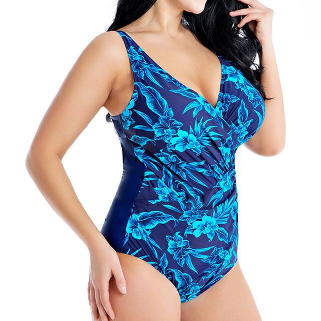 Swimwear 2019 Plus Size Bathing Suit Women Large Size Swimsuit One Piece Swimming Suit Beachwear Push Up 4XL 6XL 8XL 1