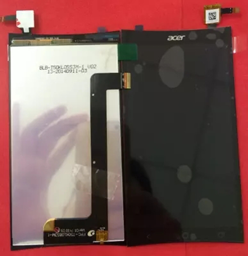 Black Original LCD Display For Acer Liquid E700 LCD Display Touch Screen Digitizer Assembly FPC T50KL08S3M