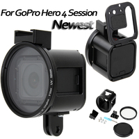 Gopro Accessories CNC Aluminium Alloy Protective Case Housing Frame Shell UV Lens Cover Cages Metal For