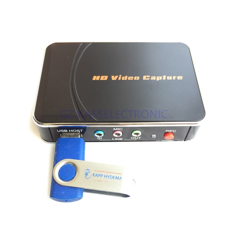2017 new HD TV Video Capture 1080P Game Capture HDMI YPbPr Recorder into USB Disk Free shipping