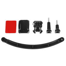 Helmet Extension Arm Kit with Surface Base Sticker and Screw for GoPro Hero 6 5 4 forYi SJ CAM Eken h9 Action Cam Accessory(China)