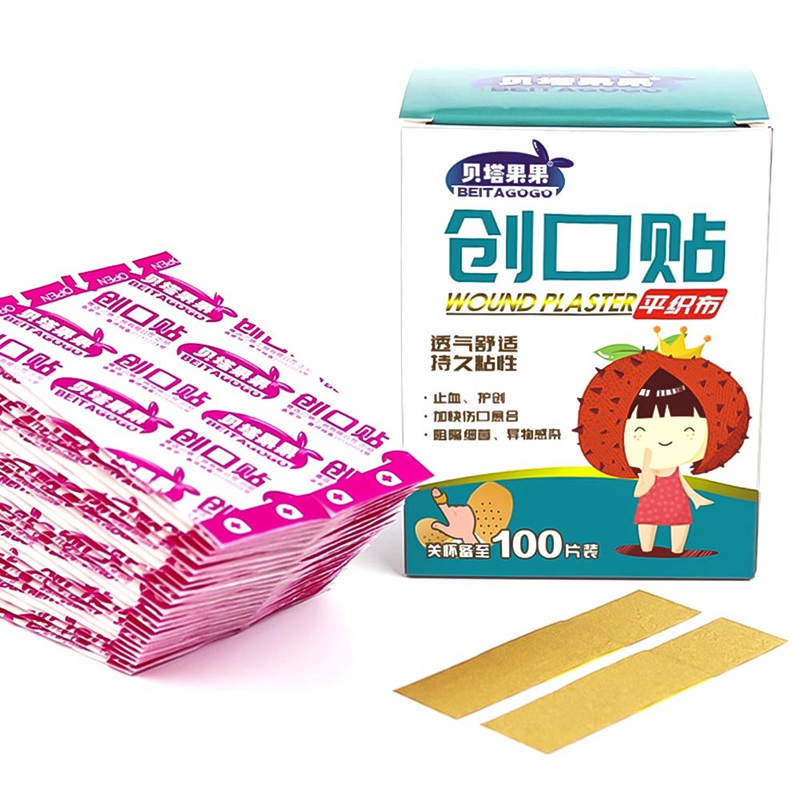 100Pcs/bag  Wound Adhesive Paster Medical Anti-Bacteria Band Aid Bandage Sticker For Home Travel First Aid Kit Supplies100Pcs/bag  Wound Adhesive Paster Medical Anti-Bacteria Band Aid Bandage Sticker For Home Travel First Aid Kit Supplies