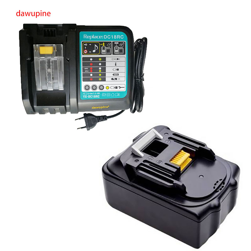 dawupine BL1830 Li-ion Battery Charger 6A Charging Current 4Ah Battery Capacity For Makita 18V 14.4V Bl1430 DC18RC DC18RA dawupine dc18rct li ion battery charger 3a 6a charging current for makita 14 4v 18v bl1830 bl1430 dc18rc dc18ra power tool