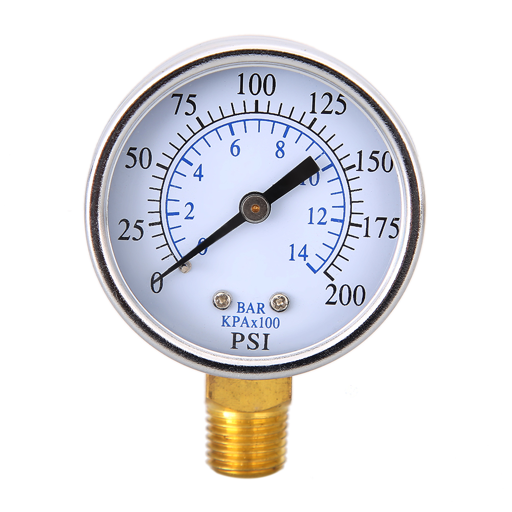 Pressure Measuring Instruments : Water air compressor hydraulic oil gas pressure gauge
