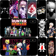 Anime Hunter X hunter 3 Coque Shell Caso de Telefone de para UMA Maca iPhone 8 7 6 Plus X 5 tampa 4 TPU Fundas Capa de silicone Macio(China)