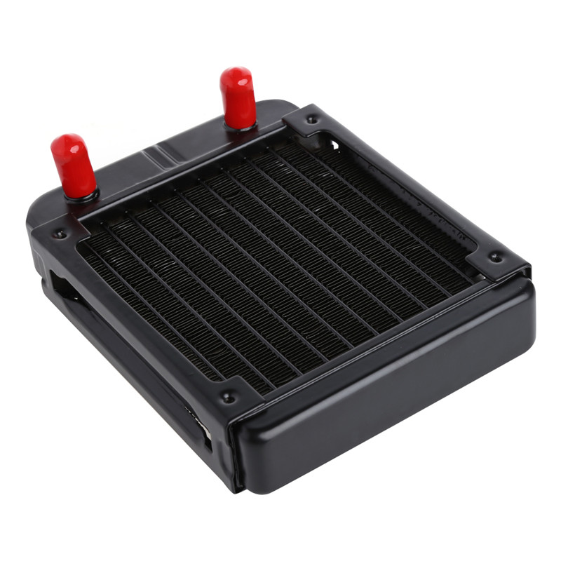 New 120MM Aluminum Computer Radiator Water Cooling Cooler 18 Tubes Heat Exchanger CPU Heat Sink For Laptop Desktop aluminum water cooling 120 240 360 radiator liquid cooler for 120mm fan g1 4 heat exchanger cooled computer