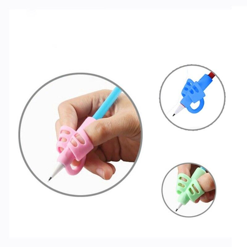Three Fingers Thumb Protection Wrap Pencil Holder Kindergarten Children Pen Writing Aid Grip Posture Correction Tool