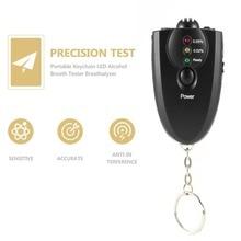 Профессиональный портативный брелок дизайн светодиодный Алкотестер анализатор спирта диагностический инструмент Прямая поставка Горячая Распродажа