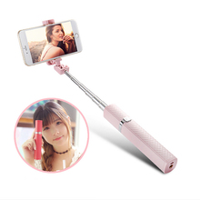 Luxurious Wired Selfie Stick Lipstick Nude Design Self-timer Monopod Palo Selfie Sticks