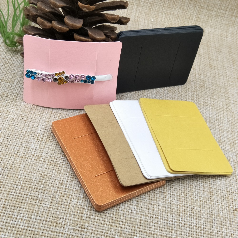 5*7cm Multi Color DIY Blank Hair Claw/barrette Products Packing Card Paper Hair Clip Display Card 100pcs Per Lot