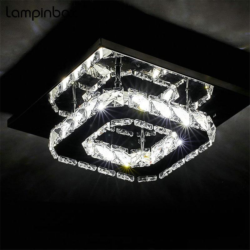 Современный простой потолочный светильник светодиодный хрустальные светильники проход коридор Лестницы потолочный светильник для поверх...